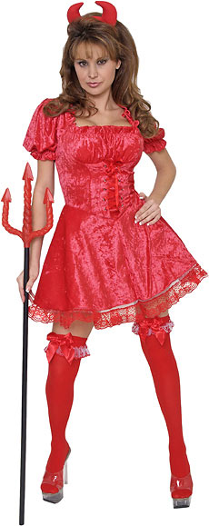 Adult Laced Devil Costume