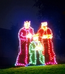 Holographic Lighted Three Wiseman Christmas Decoration