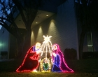 Outdoor Lighted Nativity Scene Decoration