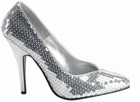 Silver Sequin Shoes