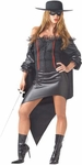 Woman's Plus Size Zorro Girl Costume
