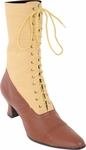 Women's Two Tone Brown Victorian Boots