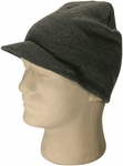 Light Grey Visor Beanie
