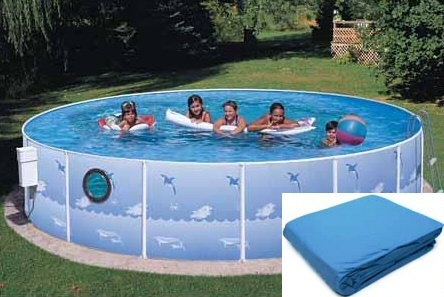 "Heritage Splasher Pool Liner 12' x 42"" with Port Hole"