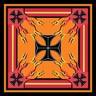 Cross Flame Bandanas