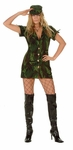 Sexy Woodland Camo GI Girl Costume
