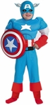 Child's Deluxe Captain America Costume