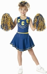 Child's Blue/Gold Cheerleader Costume