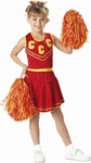 Child's Red/Gold Cheerleader Costume