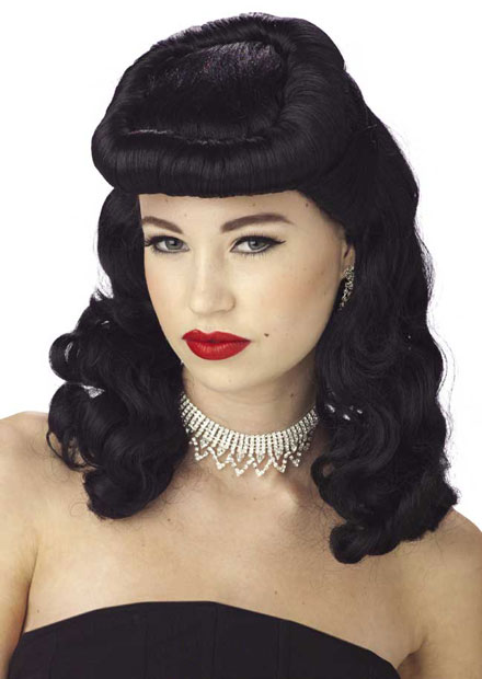 Black Vintage Pin Up Wig