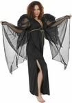 Adult Black Angel Gown Costume