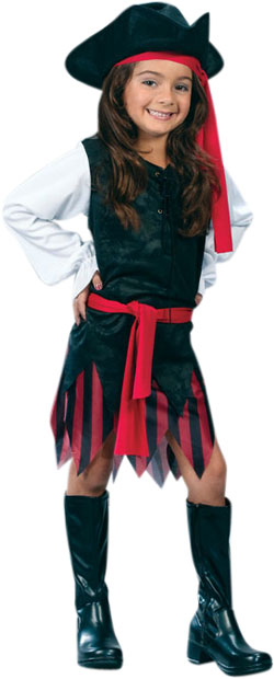 Child's Classic Caribbean Pirate Girl Costume