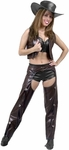 Adult Ladies Leather Chaps & Vest Set