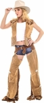 Leather Cowgirl Chaps Costume