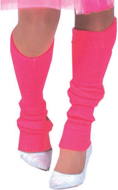 Woman's Pink 80s Leg Warmers