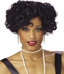 Women's Black Jazzy Wig