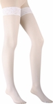Plus Size White Lace Fishnet Thigh High Stockings
