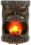 "12"" Plastic Flaming Tiki Head"