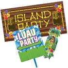 Hawaiian Luau Party Signs
