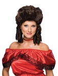 Women's Brown Colonial Wig