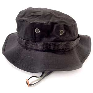 Solid Black Boonie Hats