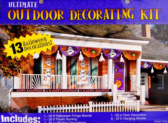 13 PC Outdoor Halloween Decorating Kit
