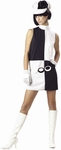 60s Adult Black & White Go Go Girl Costume