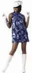 60s Adult Blue Swirl Go Go Girl Costume