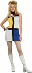 Adult Mondrian Go Go Dress