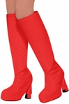 Women's 60s Red Go Go Boot Covers