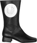 Women's Black & White Circle Go Go Boots