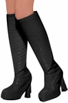 Women's Black 60s Go Go Boot Tops
