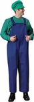 High Quality Adult Video Game Plumber Costume