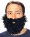 Adult Fake Black Beard and Mustache