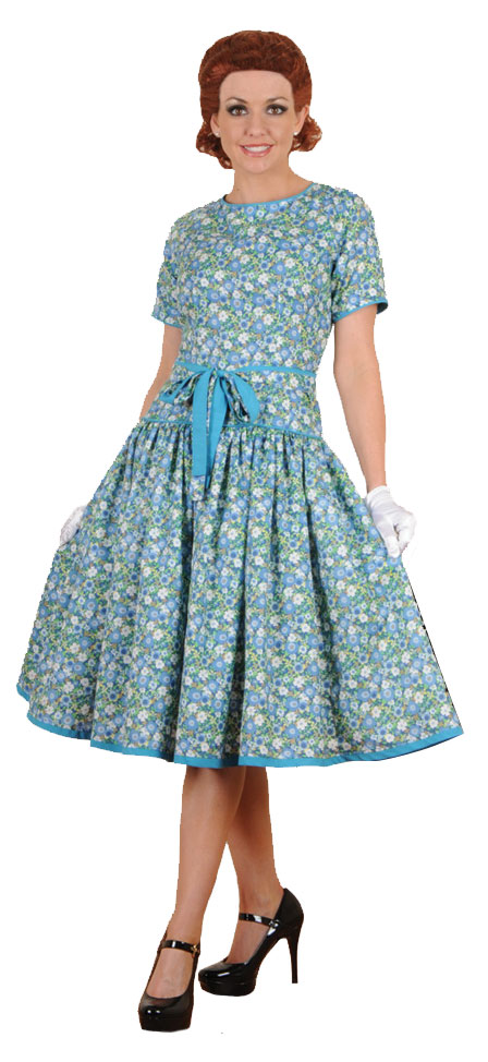 Classic Blue 60s Housewife