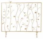 French Vanilla Willow Fireplace Screen