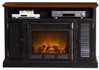 Black and Walnut Savannah Media Electric Fireplace