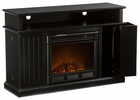 Black Fenton Media Electric Fireplace