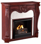 Cherry Burbank Gel Fireplace