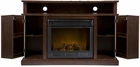 Espresso Fenton Media Electric Fireplace