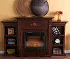 Espresso Fredricksburg Electric Fireplace w/ Bookcases
