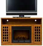 Glazed Pine Akita Media Electric Fireplace
