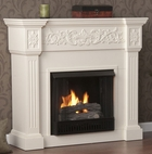 Ivory Huntington Gel Fireplace