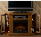 Mahogany Ponoma Convertible Media Electric Fireplace