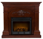 Mahogany Salerno Electric Fireplace