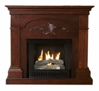 Mahogany Salerno Gel Fireplace