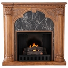 Old World Oak Bedford Gel Fireplace