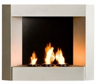 Silver Hallston Wall Mount Fireplace