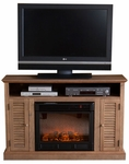 Weathered Oak Savannah Media Electric Fireplace