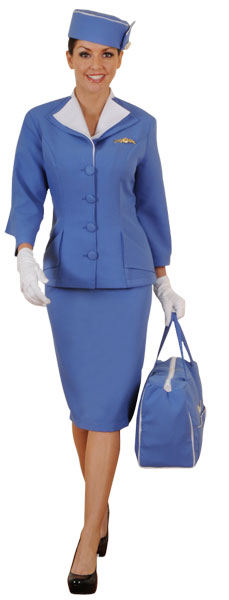 60s Flight Attendant Stewardess Costume